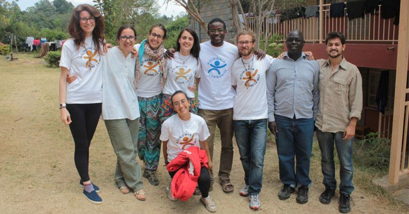Volontari Caritas in Kyenia al Koinonia Centera