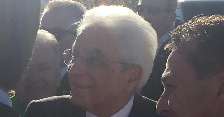 Il Presidente Mattarella a L'Aquila