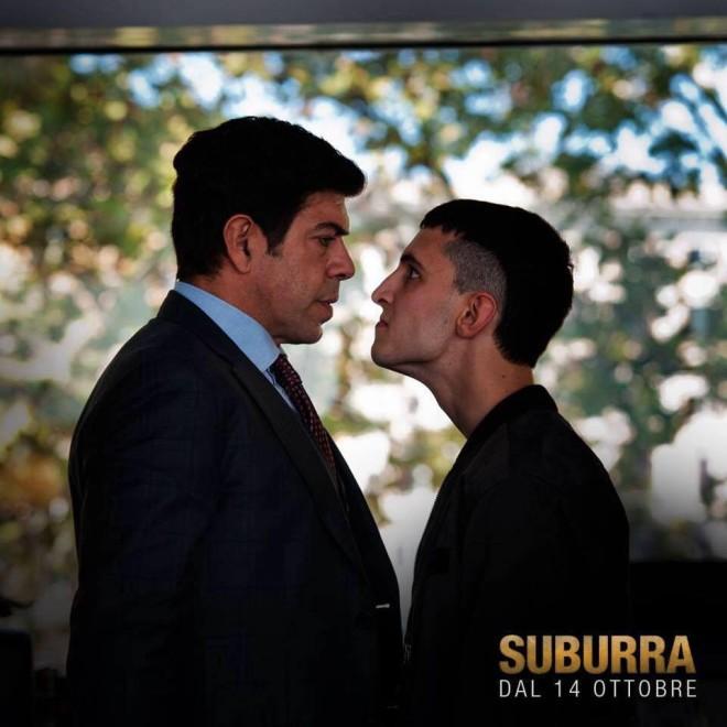 Pierfrancesco Favino e Giacomo Ferrara in una scena del film