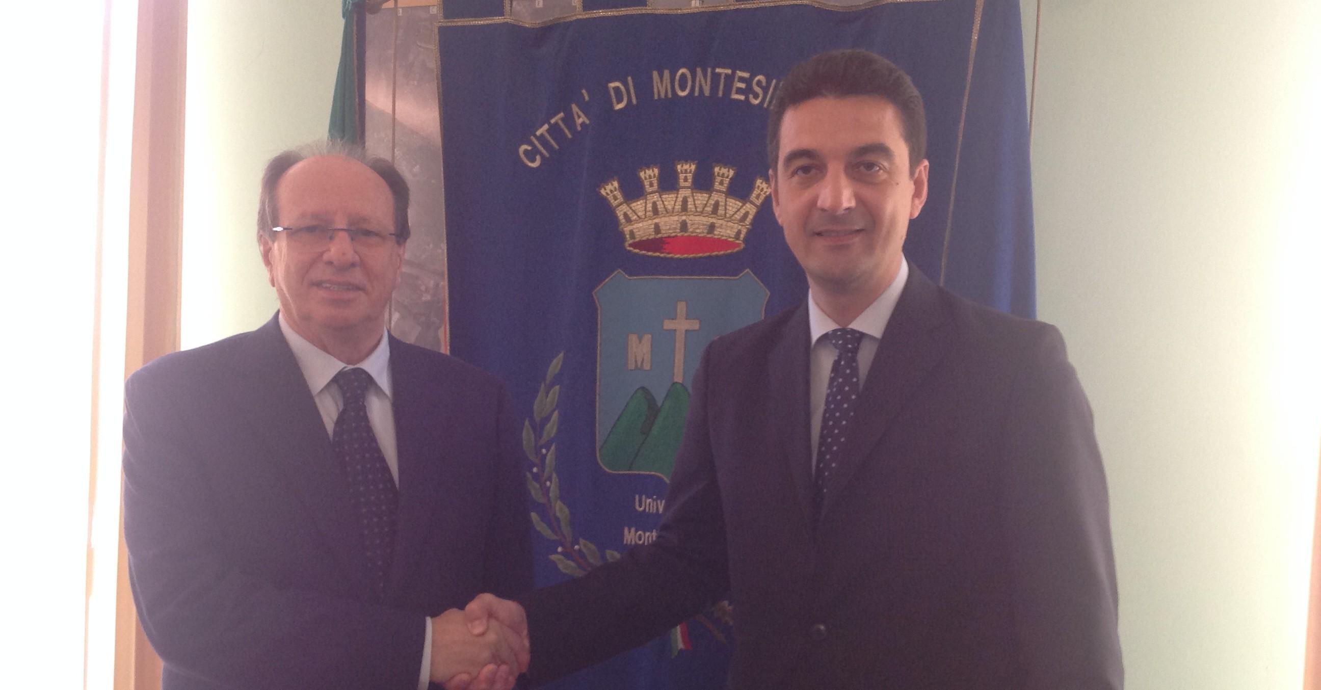 Rettore Paolone e sindaco Maragno