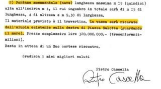 La lettera autografa di Pietro Cascella al sindaco Casalini