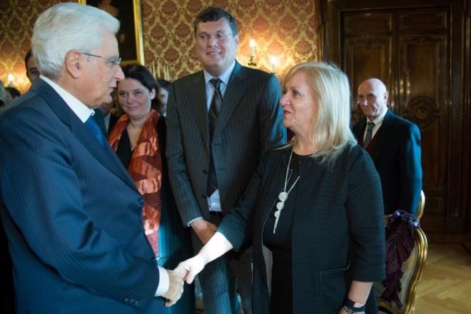Agnese Ranghelli col Presidente della Repubblica