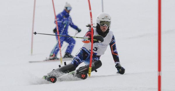 Giulia Di Francesco ai campionati studenteschi di sci
