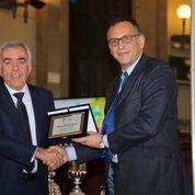 Il presidente Tonelli con Marco Alessandrini