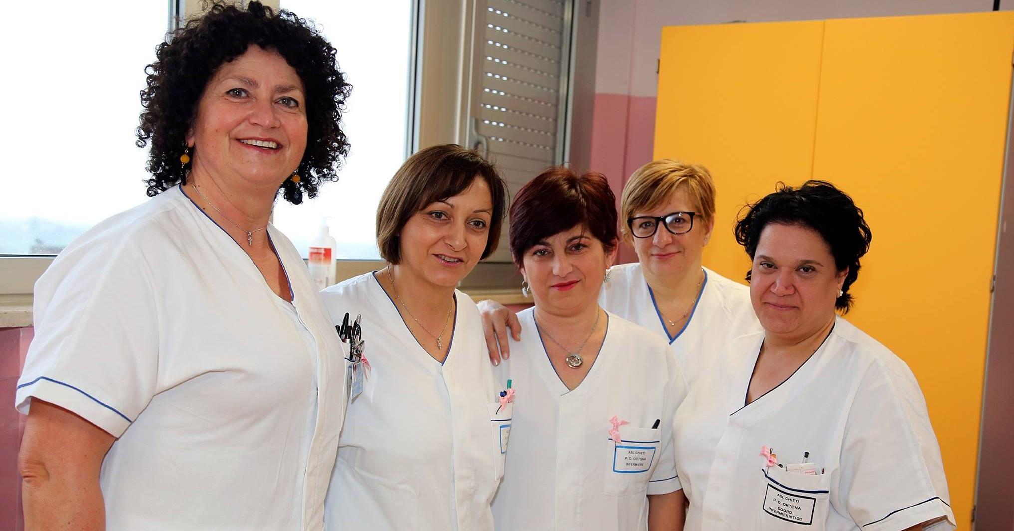 Lo staff ospedaliero di Oncologia donna