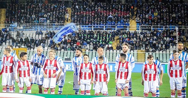 Foto di gruppo prima della partita contro il Vicenza