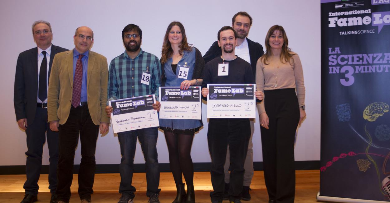 i vincitori di FamLab con la giuria