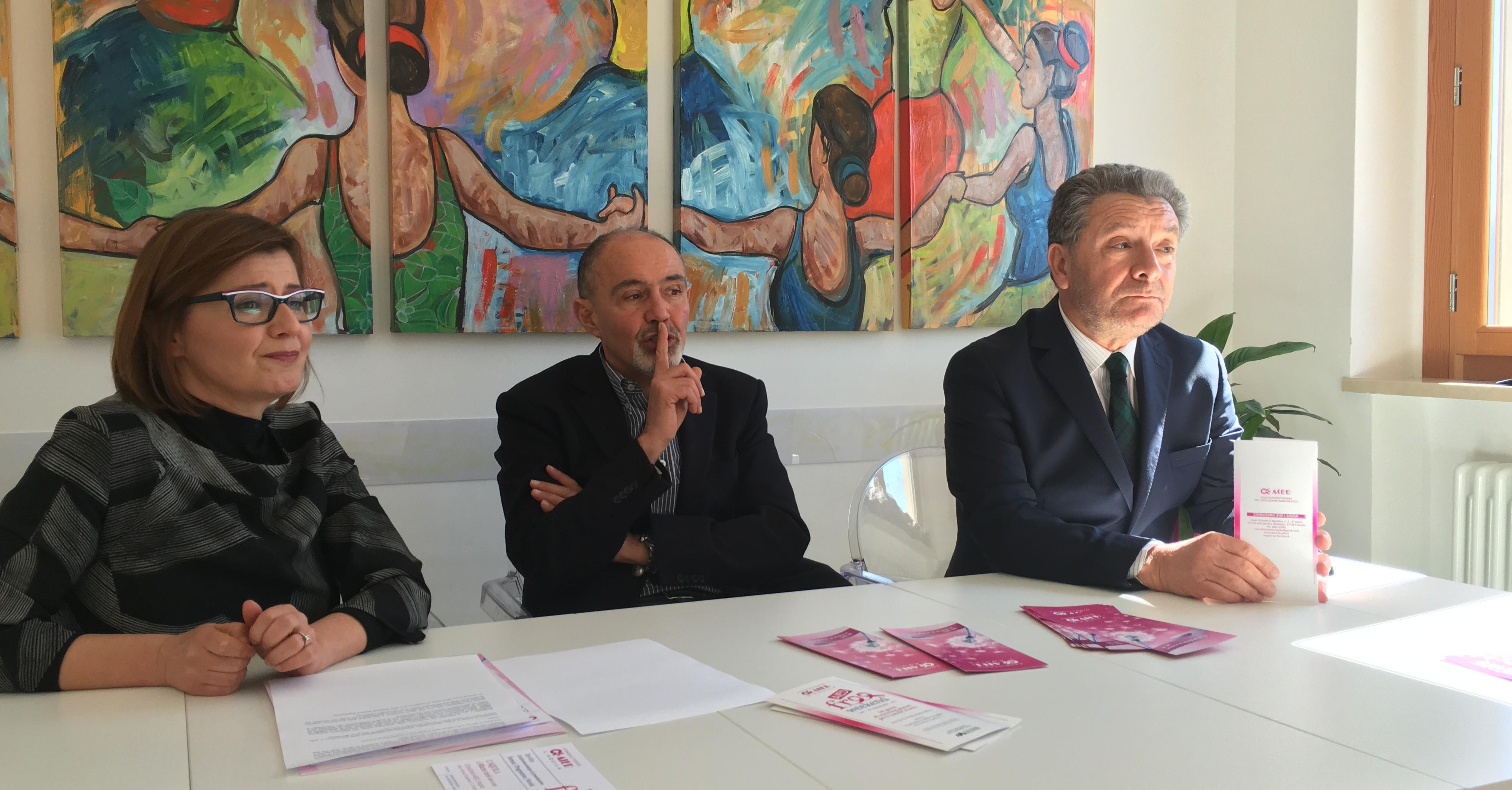 Alessia Salvemme, Alberto Bafile, Marco Fanfani durante la conferenza stampa