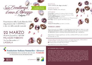 Sua Eccellenza, il Vino d'Abruzzo: programma
