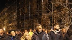 protesta cantieri L'Aquila