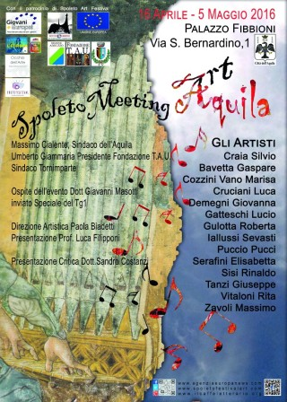 Locandina Spoleto Meeting Art Aquila