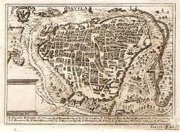 Mappa storica della città dell'Aquila