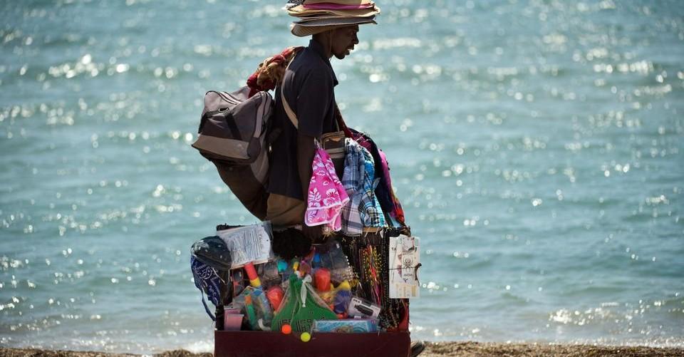 Commercio su spiaggia
