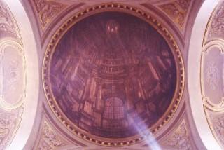 La tela della finta cupola