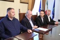 Un momento della conferenza stampa degli IPOVEDENTI