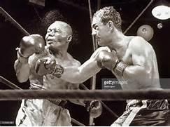Rocky Marciano durante un match