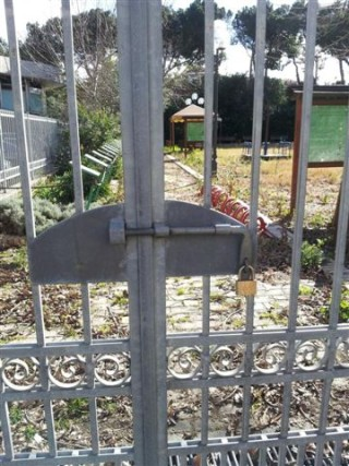 Parco Michetti chiuso