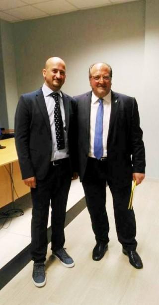 Il Sottosegretario Mazzocca e il Sindaco di Collarmele Mostacci