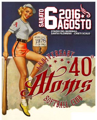 Locandina 40esimo Atoms' Softball
