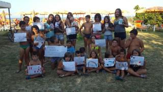 I bambini del campeggio uniti per Amatrice