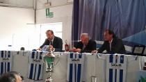 Il presidente Danilo Iannascoli, insieme all'Assessore allo Sport e il vice Sindaco