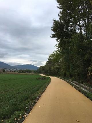 La pista ciclabile Valle dell'Aterno