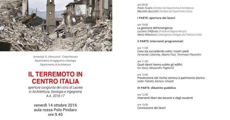 Convegno Terremoto Centro Italia