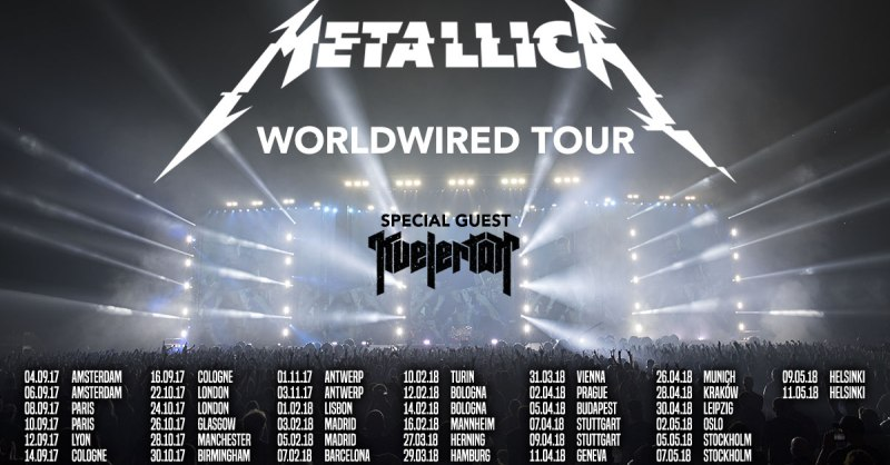 Metallica in Italia con il Worldwired tour