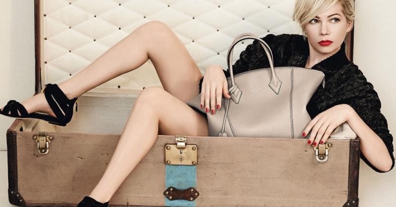 L'attrice Michelle Williams testimonial per Vuitton