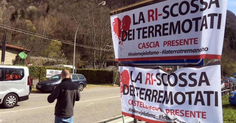 Terremotati in piazza contro il Governo