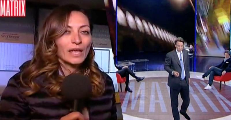Roma, giornalista di Matrix aggredita in diretta