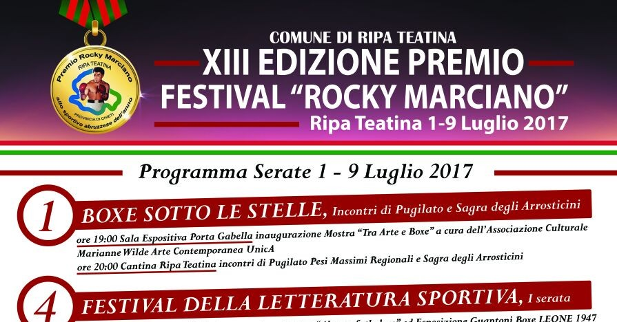 Premio Rocky Marciano programma